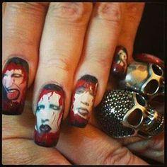 Marilyn Manson nails