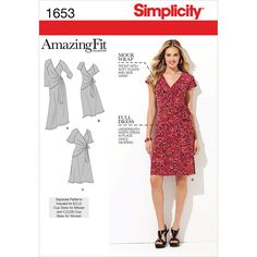 Simplicity Pattern 1653AA 10-12-14-1-Simplicity Misses Dr