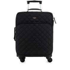 kate spade new york ridge street international carry-on suitcase ($505) ❤ liked on Polyvore featuring bags, luggage and black