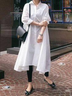 Casual Cropped Long Shirt Dress – oshoplive Source by Outfits comfortable Stylish Dresses For Girls, Stylish Dress Designs, Casual Outfits For Teens, Designs For Dresses, Casual Dress Outfits, Summer Dress Outfits, Stylish Dress Book, Teen Outfits, Pakistani Fashion Casual