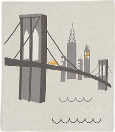 Lucky Jade Brooklyn Bridge Baby Blanket -  - Barneys.com