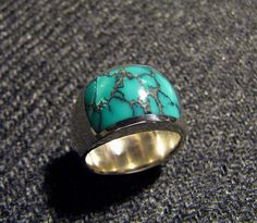 Custom Turquoise Inlay Ring.