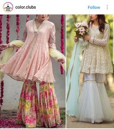 To Customised this garment log on to www. Pakistani Wedding Outfits, Pakistani Dresses, Indian Dresses, Indian Outfits, Pakistani Gharara, Sharara, Anarkali, Eid Dresses, Casual Dresses