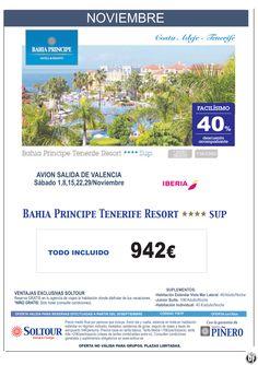 Tenerife - 40% Dto.Acompañante - Bahía Príncipe Tenerife Resort, salidas 1, 8, 15, 22 y 29 Noviembre desde Valencia ultimo minuto - http://zocotours.com/tenerife-40-dto-acompanante-bahia-principe-tenerife-resort-salidas-1-8-15-22-y-29-noviembre-desde-valencia-ultimo-minuto/