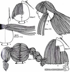 Cloth doll hair