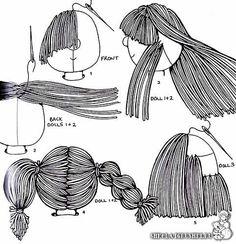 Cloth doll hair