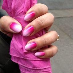 Ombre gradient on stiletto nails