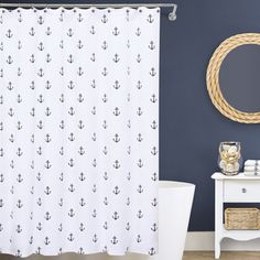 Lamont Home Anchors Matelasse Shower Curtain - Overstock™ Shopping - Great Deals on Shower Curtains