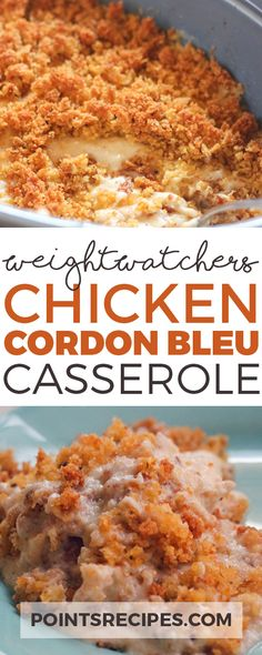 Chicken Cordon Bleu Casserole (Weight Watchers recipes)