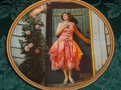 "True Rockwell Classic Fine China Decorative Collectible Plate  Standing in the Doorway  Rockwell's Rediscovered Woman Series  Certified Plate Number 557C, Registered Issue  1983  Edwin M. Knowles Fine China  Made in the USA  8.5""  Diameter  Complete with Certificate of Authenticity and Art History Pamphlet  Superior Condition  Beautiful Decorative Plate   Thank you for visiting A Vintage Addiciton    YS1012CV1W121SW113  avintageaddiction, vintage, collectible, home decor, plate,. wall ..."
