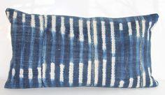 Vintage African Indigo Mudcloth Pillow Cover by IndigoJackPillows