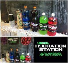 Sports Party Drinks Station - fake powerade with homemade labels Bubble Soccer, Postnatal Workout, Sports Party, Wellness Programs, Today Show, Healthy Living Tips, Party Drinks, Workout Programs, Stocking Stuffers
