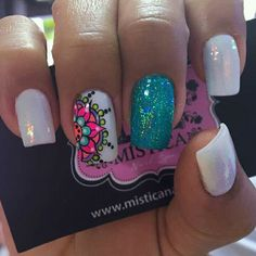 french nails gel Square - All For Hair Color Trending Elegant Nail Designs, Nail Art Designs, French Nails, Mandala Nails, Tribal Nails, Crazy Nails, Pretty Nail Art, Manicure E Pedicure, Nail Decorations