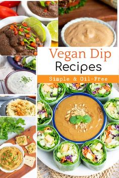 These simple vegan dips are perfect for game day, parties, or anytime. Snacking has never been more healthy or delicious! #vegandips #oilfreedips #healthydiprecipes #plantbaseddips #wfpbdips