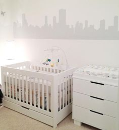 Vinilo de Chicago para la habitación de bebé