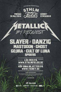 STHLM Fields | 30 maj | Gärdet, Stockholm | #sthlmfields #metallica #slayer #danzig #mastodon #ghost #cultofluna #gojira #spiders