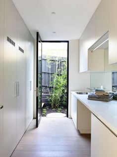 Golden rules of laundry design - Canny Group - Melbourne Homes - Architecture - Interior Design Laundry Closet, Laundry Room Storage, Laundry In Bathroom, Storage Area, Small Space Interior Design, Melbourne House, Laundry Room Design, Home Renovation, Living Room Designs