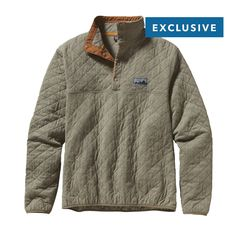 Patagonia Diamond Quilt Snap-T Pullover - Our 40th anniversary Diamond Quilt Snap-T® Pullover is made of organic cotton jersey and insulated with recycled polyester for everyday layering warmth.
