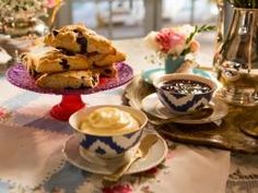 """Blueberry-Lemon Scones (High Tea with a Twist) - Tiffani Thiessen, """"Dinner at Tiffani's"""" on the Cooking Channel."""