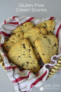 Gluten Free Mini Chocolate Chip Scones via www.musingsofahousewife.com