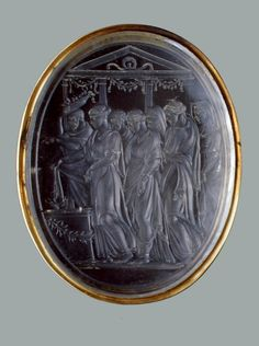 """Name: """"Sacrifice"""" Place of creation: Italy Authors: Belli, Valerio Date: first third of the 16th century Material: rock crystal, gold."""