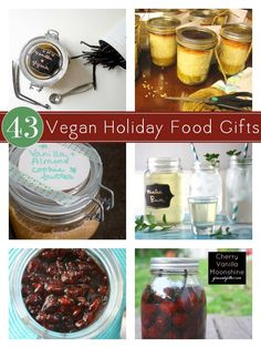 Cake mixes, infused booze, baked goods, and more. Check out this mega-roundup of vegan DIY food gifts! Best Food Gifts, Diy Food Gifts, Vegan Dishes, Vegan Desserts, Vegan Food, Dairy Free Recipes, Vegan Recipes, Vegan Meals, Vegan Christmas