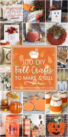 100 DIY Fall Crafts to Make and Sell Earn some extra money with these fall craft. Handwerk ualp , 100 DIY Fall Crafts to Make and Sell Earn some extra money with these fall craft. 100 DIY Fall Crafts to Make and Sell Earn some extra money with th. 100 Diy Crafts, Crafts To Make And Sell, Sell Diy, Diy Décoration, Crafts Cheap, Decor Crafts, Easy Diy, Kids Crafts, Recycled Crafts