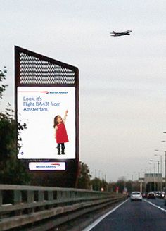 Interactive Billboard Tells You Where The Airplane Overhead is Going - Neatorama