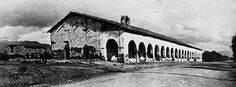 Spanish mission San Fernando Rey de España ca. 1910, in the Mission Hills district, Los Angeles, Ca. Founded on September 8, 1797 by Father Fermín Lasuén. ... the missions had to become self-sufficient in relatively short order. Toward that end, neophytes (Native tribe(s) Tataviam, Tongva)    were taught European-style farming, animal husbandry, mechanical arts and domestic crafts.