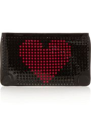 Christian LouboutinLoubiposh spiked patent-leather clutch