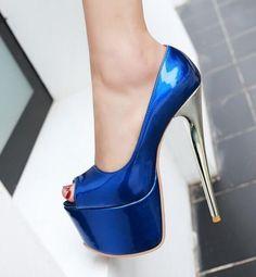 Womens High Stilettos Platform High Heel Peep Toe Sandal Shoes Nightclub Plus Sz | eBay