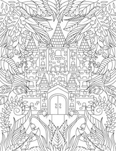 Magical Forest By Jade Summer Coloring Books Pages Adult For Adults