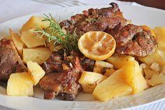 Αρνί με πατάτες στο φούρνο | Lamp with potatoes in the oven Pot Roast, Pork, Meat, Ethnic Recipes, Carne Asada, Kale Stir Fry, Roast Beef, Pigs, Pork Chops