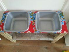 Zand en watertafel hand made