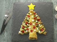 Pesto-Stuffed Christmas Tree
