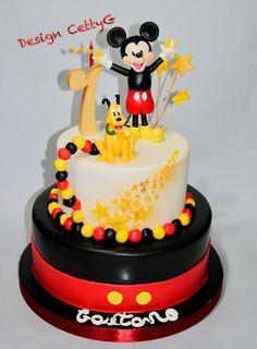 Le torte decorate di Cetty G: 1° compleanno ..Topolino cake