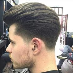 4 Medium Hair Cuts, Short Hair Cuts, Medium Hair Styles, Short Hair Styles, Mens Hairstyles With Beard, Hair And Beard Styles, Hairstyles Haircuts, Temp Fade Haircut, Taper Fade Haircut
