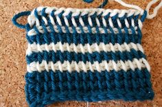 PESCNO: Tunesisk hækling/hakning - GUIDE Tunisian Crochet, Knit Crochet, Knitted Hats, Projects To Try, Stitch, Knitting, Crafts, Crocheting, Simple