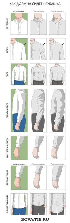 Как должен сидеть костюм инфографика