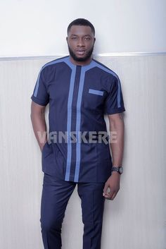 Ace menswear fashion designer Vanskere is out with its new classic collection. The signature style of Vanskere is made bold in these designs for the - BellaNaija Style. Latest African Wear For Men, African Shirts For Men, African Dresses Men, African Attire For Men, African Clothing For Men, Nigerian Men Fashion, African Men Fashion, Africa Fashion, African Women