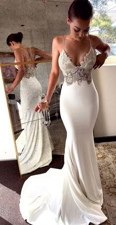 Charming Lace Sexy Backless Mermaid Jersey Prom Dresses from Ulass Prom Dresses Lace, Mermaid Prom Dresses, Prom Dresses Backless, Prom Dresses Sexy, Prom Dress Prom Dresses 2019 Backless Prom Dresses, Sexy Wedding Dresses, Sexy Dresses, Bridal Dresses, Bridesmaid Dresses, Beautiful Dresses, Dress Prom, Wedding Gowns, Lace Wedding