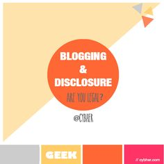 Blog disclosure - it's not okay to not disclose