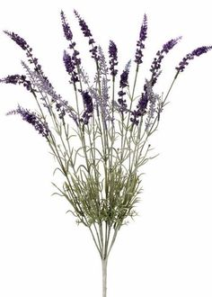 "Faux English Lavender Bush in Purple and Lavender<br>22"" Tall"