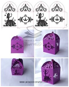 Caja cortada princesas.