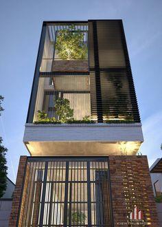 Village House Design, House Front Design, Small House Design, Modern House Design, Design Exterior, Facade Design, Architecture Design, Narrow House Designs, 2 Storey House Design