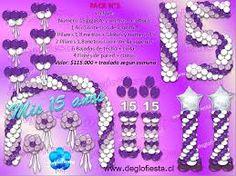Resultado de imagen para www.deglofiesta.cl Balloon Display, Balloon Arch, Balloon Decorations, Deco Ballon, Christmas Balloons, Diy Party, Party Ideas, 50th Birthday, Christening