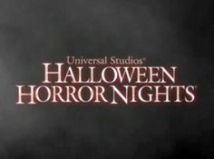 Halloween Horror Nights are coming to Universal Studios Florida