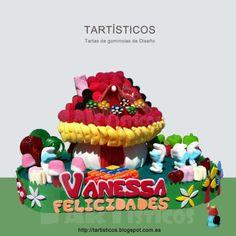 Tarta de gominolas Gomi Gomi, Candy Cakes, Ideas Para Fiestas, Chocolate, Birthday Cake, Desserts, Diy, Cake, Caramel Mud Cake