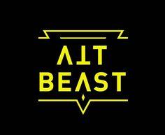 Logo for dj Alt Beast #typo #typography #alt #beast