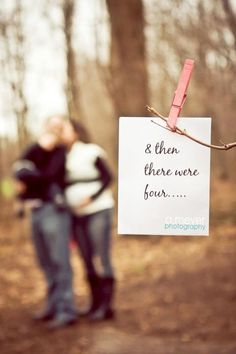 & then there were 4, family photos, maternity photos, Cute idea only now there will be 5 :-)